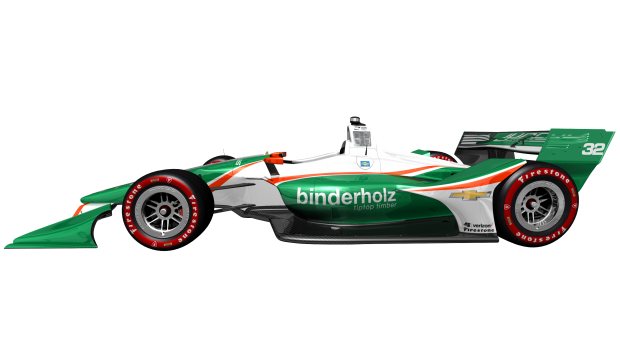 3D render of the Juncos Racing livery for the 2018 Verizon IndyCar Series